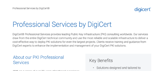 PKI Professional Services